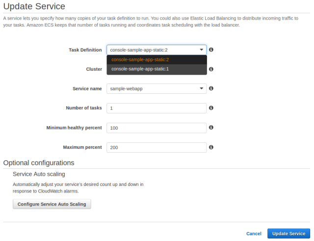 Deploying Updated Task Definitions and Docker Images on AWS