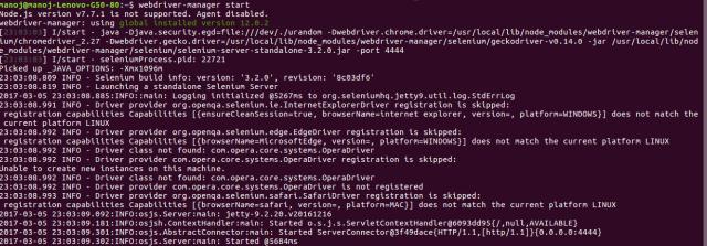 webdriver-start