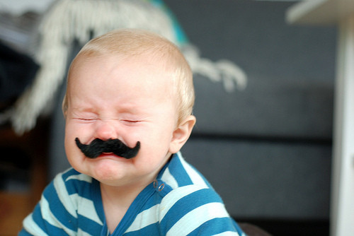 Mustaches-Baby-Crying-Sad-Face-Funny-Image