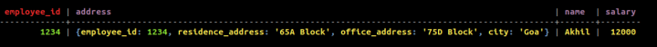 Cassandra User-defined types(UDTs)